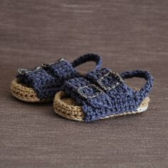 Patron de crochet Sandalias de bebe estilo Birkenstock