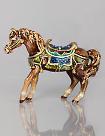 Abbey Horse Figurine - Jewel Jay Strongwater