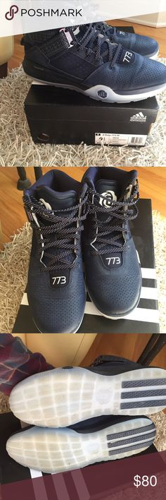 Adidas Derrick Rose basketball sneakers They are basically brand new, worn once. They are adidas D Rose 773 IV in navy, black and white. Adidas Shoes Sneakers
