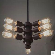 9-karú amerikai industrial style Edison Vintage vas lámpa