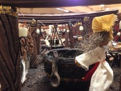 Vikingkone ved ølstampen