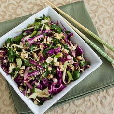 Got to try this - Thai-Style Cabbage Slaw with Mint and Cilantro @Kalyn's Kitchen