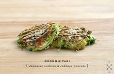 Okonomiyaki, Japanese Scallion & Cabbage Pancake. A travel recipe for our Extraordinary Cultures trip. See the itinerary here: http://tcsandsq.com/ExtraordinaryCultures2.php
