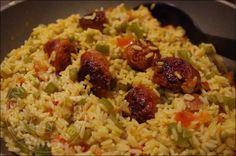Riz a l'espagnol aux chorizo04poireaux bechamel pain chataigne riz espagnol 059