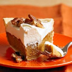 Real vanilla bean, fresh orange peel, and cream amp up the flavor in this festive dessert. Sprinkle with candied pecans before serving.