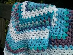 Baby boy blanket for crib or pram by MakerMouse on Etsy