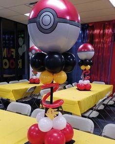 centerpieces but smaller (Girly Pokemon Cake) Pokemon Party Decorations, Birthday Party Decorations, Party Themes, Party Ideas, Pokemon Themed Party, Pokemon Birthday Cake, Festa Pokemon Go, Pokemon Balloons, Festa Toy Store