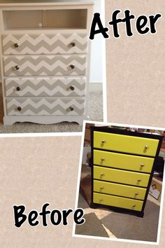 upcycled dresser Love it!   Chevron