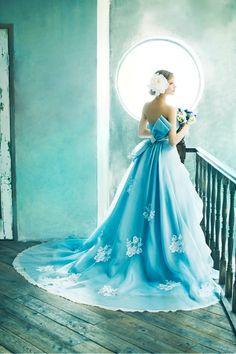 BTNV139(Blue Ribbon) #NOVARESE #colordress #blue #ribbon