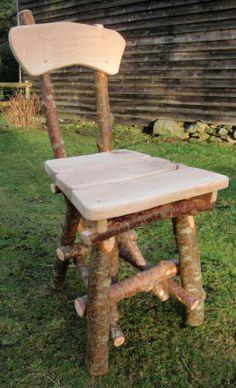 Build a Rustic Chair - wild wlesh wood 150.00