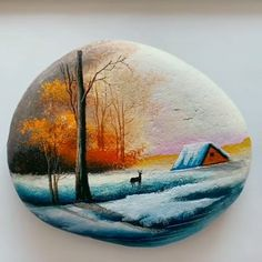 Great art by (Douyin)/ painting on stone Great art by ID: 1159505892 (douyin) / malerei auf stein This image. Pebble Painting, Pebble Art, Stone Painting, Rock Painting Designs, Acrylic Art, Rock Art, Painted Rocks, Painted Wood, Diy Art