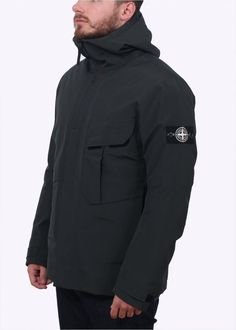 Stone Island Tank Shield Jacket - Petrol - Stone Island from Triads UK Football Casual Clothing, Football Casuals, Stone Island Jacket, Stone Island Clothing, Cool Outfits, Casual Outfits, Herren Style, Italian Outfits, Nautical Fashion