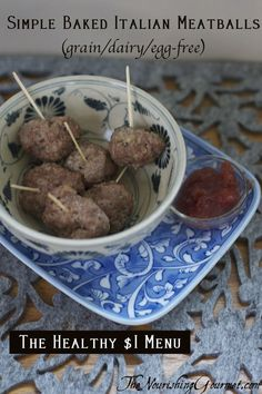 Simple Baked Mini Meatballs that are paleo, and frugal too!