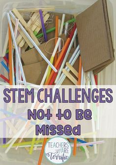 5 Easy STEM Challenges Not to Be Missed! - Teachers are Terrific Elementary Science, Elementary Education, Science Topics, Stem Science, Science Lessons, Building For Kids, Team Building, Stem Challenges, Stem Projects