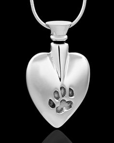 silver buddy heart pet cremation pendant