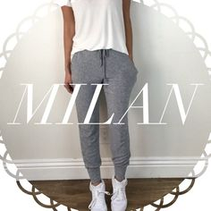 • Reserved • for Milan • Light Grey Joggers (L) • Perfect White Tee (S) Other