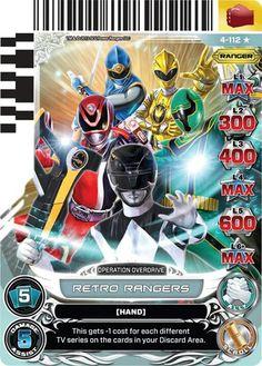 Retro Rangers Power Ranger trading card