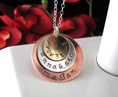 Sterling Silver Mixed Metal Hand Stamped by StampedByTheHeart, $52.00
