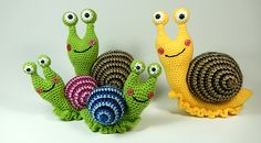 Shelley the snail amigurumi by Janine Holmes at Moji-Moji Design