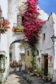 Manuel Fernández García (Spain) Was born in 1927 Landscape Painter of Peoples . - Manuel Fernández García (Spain) Born in 1927 Spanish Landscape Painter of Peoples and Customs - Watercolour Painting, Painting & Drawing, Landscape Art, Landscape Paintings, Art Paintings, Beautiful Paintings, Painting Inspiration, Art Drawings, Scenery