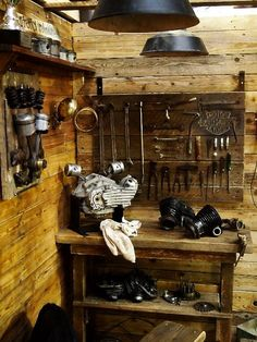 A biker's work shop, - got to have one.