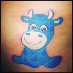 The best cow tattoo ever! So cute :)