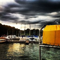 The Yellow Tarp #stormclouds #photography #instagram