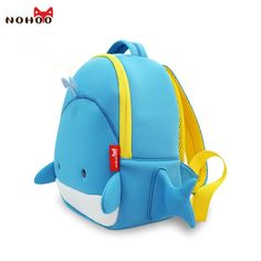 (28.99$)  Watch now - http://aid54.worlditems.win/all/product.php?id=32656487298 - NOHOO US Stock Waterproof Whale Children School Bags For Kids High Quality Cartoon 3D Animals  Kids Baby Bags