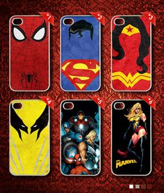 DC Marvel Minimalistic Spiderman Superman WonderWomen by DEVALOP Superman, Minimalist, Marvel, Phone Cases, Iphone, My Style, Clothing, Outfits, Clothes