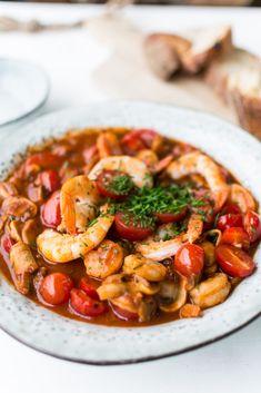 Krevety v rajčatové-máslové omáčce s bílým vínem – MamaChef