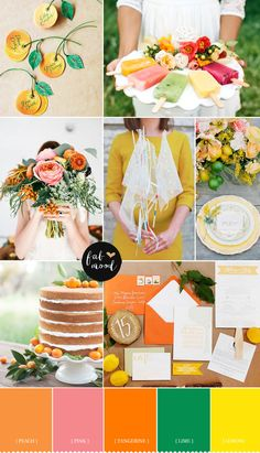 Citrus wedding colour palette Ideal for a bucolic spring wedding