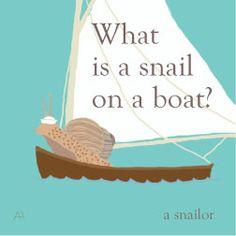 snail joke lunch note
