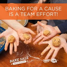 Plan a bake sale with your sports team, school club, or friends/family to get closer while baking a difference!