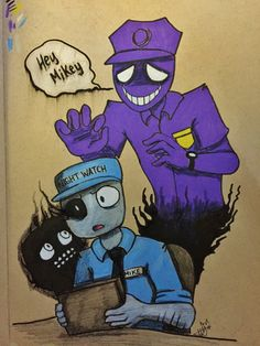 purple guy fnaf Mike & Vincent As well as one of the dead children....