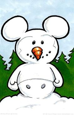 Snow Mickey by Simon Phipps