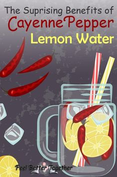 The benefits of cayenne pepper and lemon water extend all the way from weight loss to a healthy cleanse. See the benefits of this easy recipe, as well as the advantages of using cayenne pepper and lemon water for weight loss. Lemon Water Benefits, Lemon Health Benefits, Fat Burning Water, Fat Burning Detox Drinks, Weight Loss Water, Weight Loss Drinks, Body Weight, Cayenne Pepper Detox, Cayenne Pepper Recipes