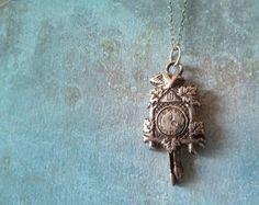 Life is a Little Cuckoo Necklace  Sterling by RenataandJonathan,