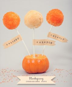 DIY, Do It Yourself, Cheesecake Pops, Cheesecake, Pop, Lollipop, Thanksgiving, Holiday