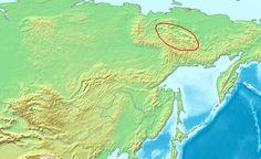 Map of the Chersky Range