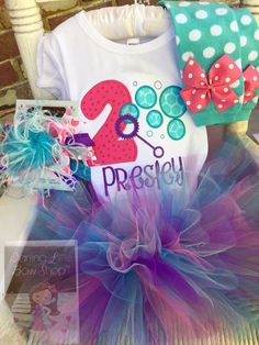Bubble Theme Birthday Outfit purple by DarlingLittleBowShop