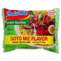 Indomie Instant Noodles Soup Soto Mie Flavor for 1 Case (30 Bags) $10.99