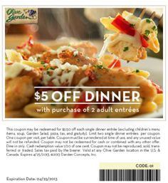 Printable coupons for restaurant Olive garden lunch or mobile Olive Garden Lunch, Olive Garden Catering, Resturant Branding, Olive Garden Coupons, Restaurant Coupons, Restaurant Deals, Free Printable Coupons, Delicious Restaurant, Fast Food Chains