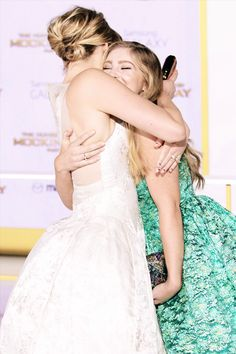 Jennifer Lawrence & Willow Shields At Mockingjay Part 1 Premiere in London