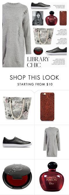 """""""Study Session : Library Chic"""" by novalikarida ❤ liked on Polyvore featuring NIKE, Rituel de Fille and Christian Dior"""