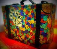 Diy: decorar una maleta de cartón con confetti