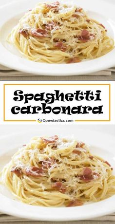 Spagetti Carbonara, Food Hacks, Pasta Recipes, Spaghetti, Food Porn, Food And Drink, Yummy Food, Lunch, Healthy Recipes