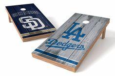 Los Angeles Dodgers/ San Diego Padres Rivals Cornhole Board Set