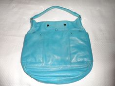 Marc by Marc Jacobs Preppy Leather Hillier Hobo Bag Aquamarine Blue #MarcbyMarcJacobs #Hobo
