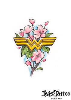 Anime Tattoos, Disney Tattoos, Bff Tats, Cartoon Character Tattoos, Wonder Woman Birthday, Old School Tattoo Designs, Traditional Tattoo Design, Mother Tattoos, Wonder Woman Logo
