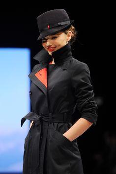 model Miranda Kerr wearing Qantas uniforms 2013 by Martin Grant